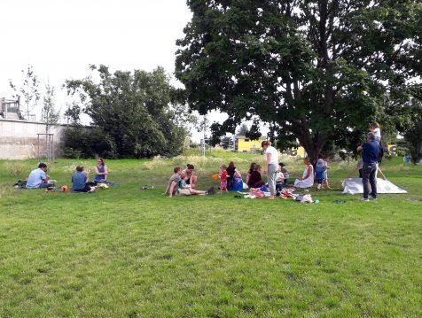 Picknick auf der Wieseninsel