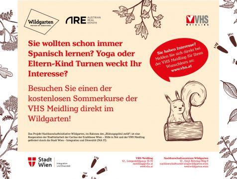 VHS Sommerkurse im Wildgarten